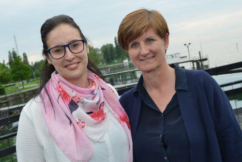 Raphaela Dünser (l.) und Messegeschäftsführerin Sabine Tichy-Treimel.