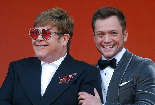 Sänger Elton John und Taron Egerton sind inzwischen befreundet. Reuters