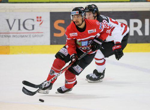 Schweiz-Legionär Fabio Hofer hofft im Duell mit dem Nachbarn auf eine gute Vorstellung seiner Mannschaft.GEPA