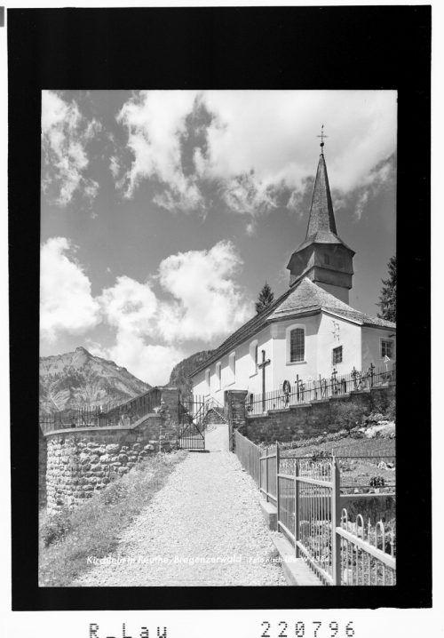Sehenswert: die Kirche in Reuthe.