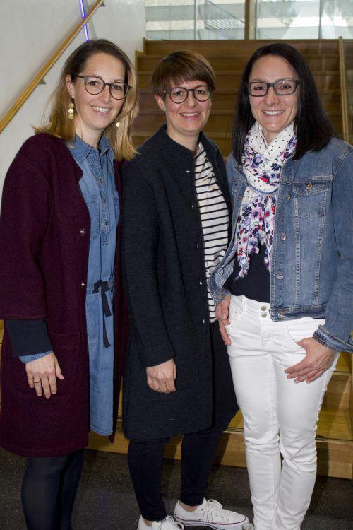 Sichtlich Spaß hatten Judith Hämmerle (l.), Petra Rossmanith und Yvonne Klien.