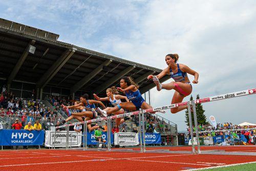 Sophie Weißenberg (rechts) lieferte in Götzis mit Platz acht eine Talentprobe ab. gepa