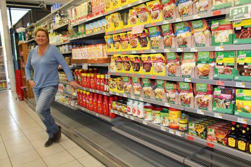 Spar-Kauffrau Beate Moser-Gerstgrasser freut sich auf den neuen Markt. HE