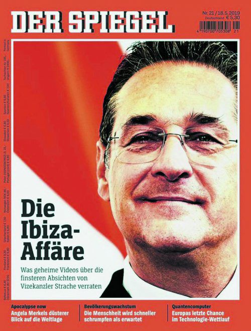 """""""Spiegel""""-Ausgabe vom 18. Mai mit Strache auf dem Cover."""