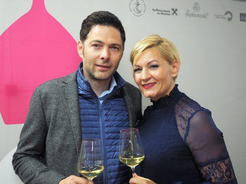 Stefan und Patricia Paul (Transgourmet) genossen edle Weine.