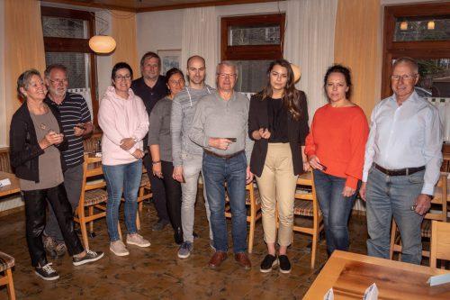 Teilnehmer und Kursleiter des Anfängerkurses.mundharmonikaclub rheintal