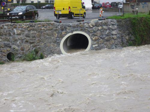 Über den Zanzenbergstollen wurde erstmals Wasser vom Steinebach in die Dornbirner Ach geleitet. ha