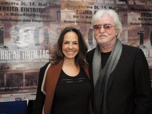 Unter den Premierengästen: Filmemacher Reinhold Bilgeri mit Beatrix.