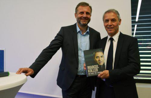 Unternehmensberater Herbert Loos mit Marcel Koller.Hofer