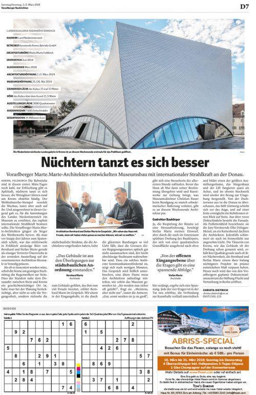 VN-Bericht zur Vor-Eröffnung, die nur der Architektur gewidmet war, am 2. März dieses Jahres.