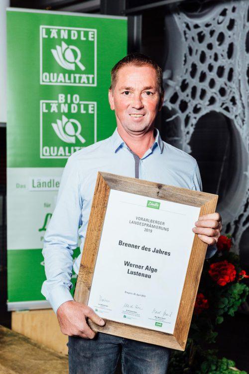 Werner Alge aus Lustenau durfte sich über die Auszeichnung freuen.gemeinde