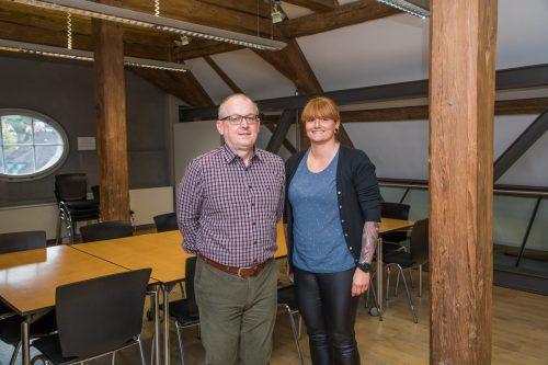"""Wolfgang Maier und Jacqueline Frick: """"Lehrlinge sind die Zukunft unserer Verwaltung. Als Unternehmen Lehrlinge auszubilden, trägt zur Weiterentwicklung des gesamten Teams bei."""" Vn/Steurer"""