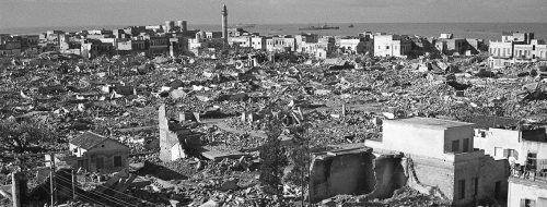"""""""You Cannot Kill A City In A Single Day"""" lautet der Titel des Vortrags in Hohenems.WEISSENSTEIN, MANScHIEH, 1948"""