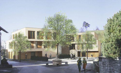 Am Standort des ehemaligen Gasthauses Torggel entsteht ein dreigeschoßiges Wohn- und Geschäftshaus. Hajek Riedmann
