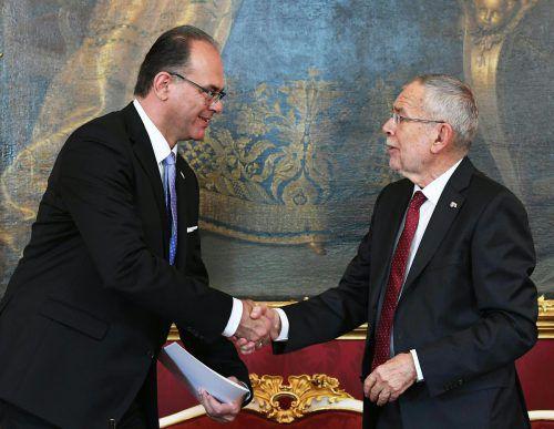 Andreas Reichhardt, ehemaliger stellvertretender Büroleiter von Hubert Gorbach, wurde von Präsident Alexander Van der Bellen als Verkehrsminister angelobt. apa