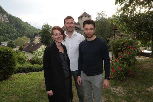 Anita Wernsteiner (l.) sowie Stefan Meier und Julius Geiger.