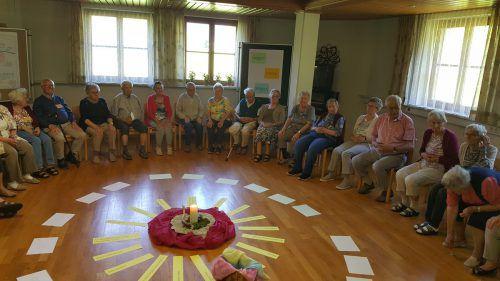 Beim täglichen Morgenlob kamen die Senioren gerne zusammen und sangen aus voller Kehle. Caritas