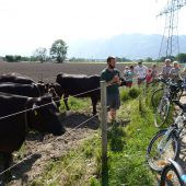 Mit dem Fahrrad auf lokaler Hoftour