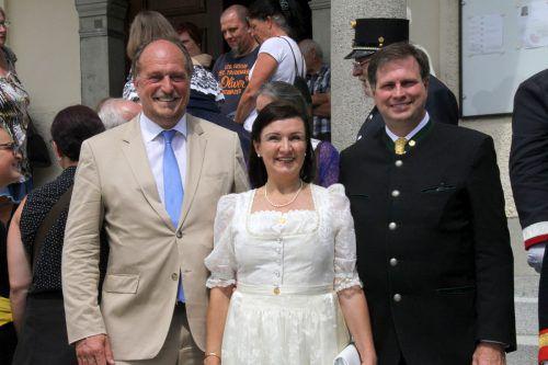 Bgm. Karl Hehle, Herta Margarete und Sandor von Habsburg-Lothringen.