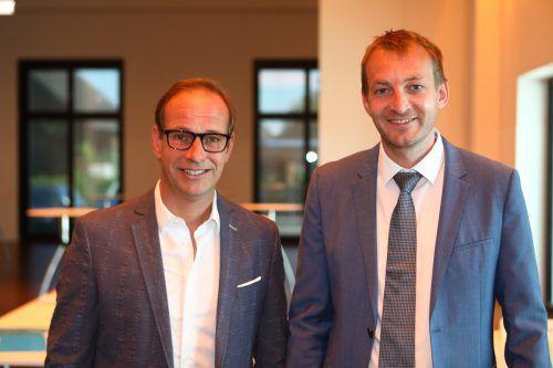 Bürgermeister Dieter Egger (l.) und Daniel Peschl.