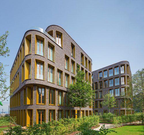 Das Architekturbüro Baumschlager Eberle realisiert Wohnbauten und -quartiere auf der ganzen Welt. Bild: Ein Projekt in Bregenz. Fa/BE