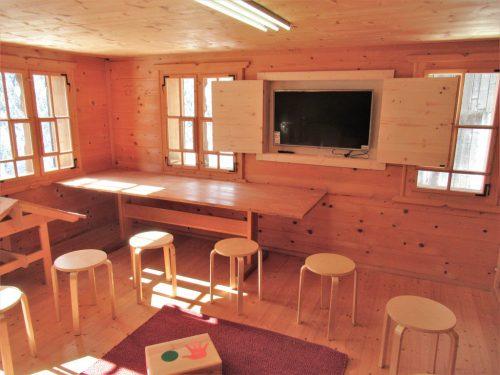 Das Atelier bietet Raum für Workshops und pädagogische Tätigkeiten. krs