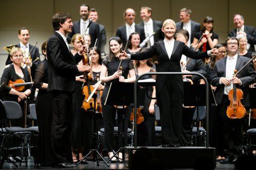 Das Konzert mit dem Symphonieorchester Vorarlberg wurde zu einem Erlebnis für die zahlreichen Besucher. RHomberg/SOV