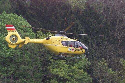 Das Notarztteam flog den Verunglückten mit dem Hubschrauber ins Spital. VN/HB