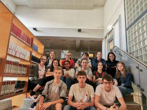 Das sind wir: Die 5d des Gymnasiums Schillerstraße Feldkirch.