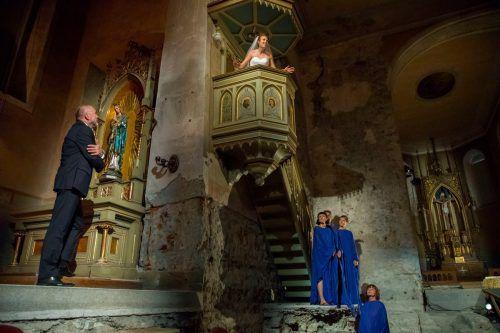 """Das Stück """"Schlaflose Nächte"""" von Christian Kühne wurde am Freitagabend in der Johanniterkirche uraufgeführt. VN/Paulitsch"""