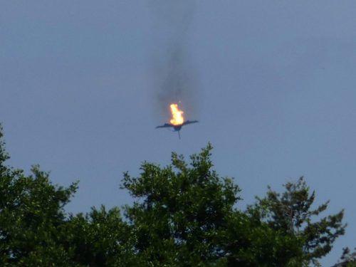 Das Unglück geschah bei Luftkampfübungen. AFP