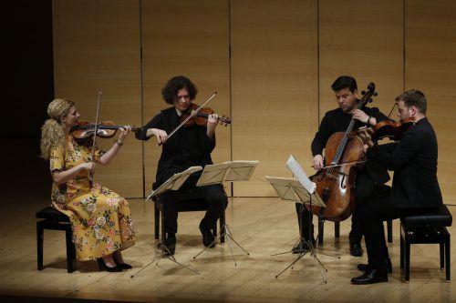 Das vielfach preisgekrönte tschechische Pavel-Haas-Quartett macht diese Matinée zu einem Ereignis. Schubertiade