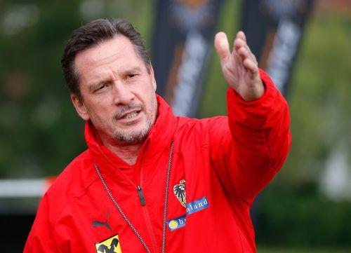 """Der Auftrag von Trainer Werner Gregoritsch an seine U-21-Mannschaft für die EM in Italien: """"Macht es wie die Frauen . . .""""gepa"""