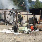 Brand vernichtet Vespa-Sammlung