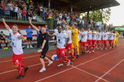 Der FC Dornbirn hat es geschafft! Die Meisterparade darf sich auf den Weg in die 2. Liga machen.VN/LERCH