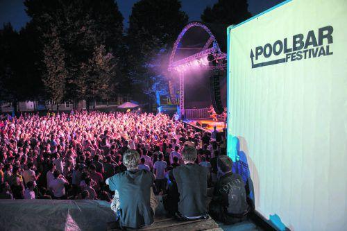 Der poolbar-Sommer mit viel Musik und großem Rahmenprogramm geht vom 5. Juli bis 11. August 2019 über die Bühne.matthias rhomberg