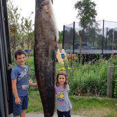 Fußacher zieht Riesenwels aus dem Bodensee