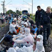 Klimaproteste in Deutschland: 800 blockierten Bahnstrecke
