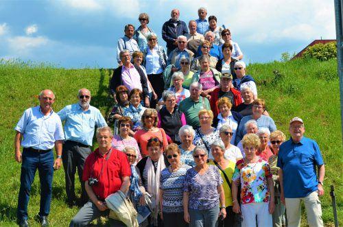 Die Altacher Senioren beim Kloster Weltenburg.Seniorenbund Altach