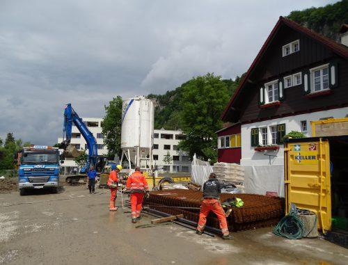 Die Bauarbeiten an der Tiefgarage haben schon begonnen.tf