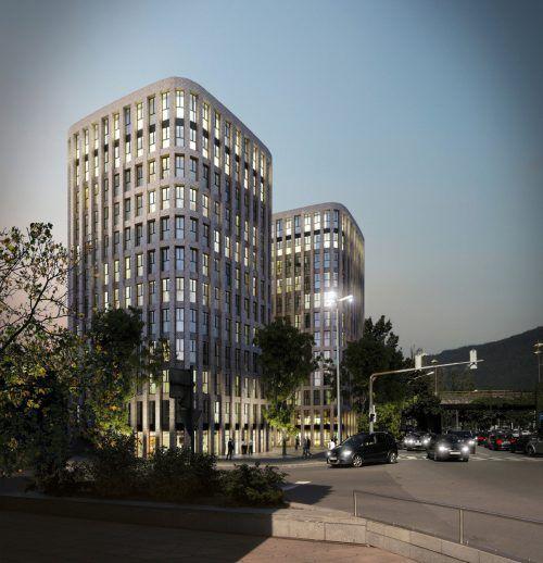 Die beiden Eberle-Türme sind beim Seequartier-Projekt genauso wie ein Hotel in unmittelbarer Nähe zum Bahnhof geplant.Eberle