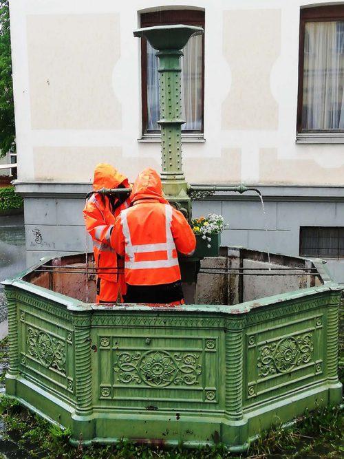 Die Bregenzer Brunnen wurden einer Verschönerungskur unterzogen.Stadt Bregenz