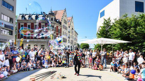 Die Bregenzer Innenstadt gehört am Samstagnachmittag ganz und gar den Kindern.bregenz Travel/Udo mittelberger