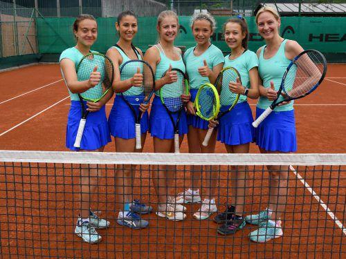 Die Damen des TC Bludenz könnten nach dem Titelgewinn auf regionaler Ebene schon bald in der zweiten Tennis-Bundesliga aufschlagen. VN/Lerch