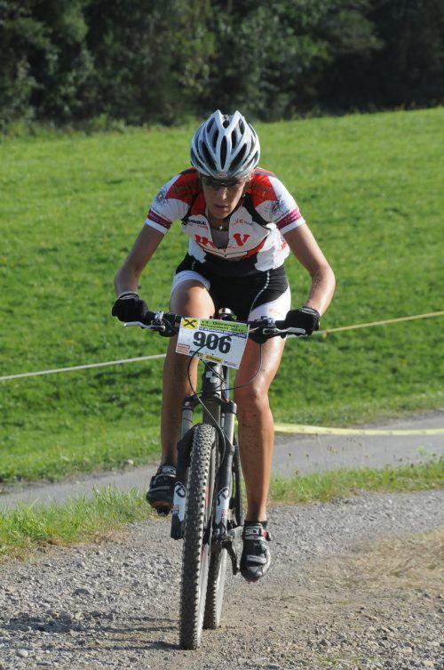 Die Dornbirnerin Dagmar Fink wurde Dritte in derW-2-Klasse bei der Dolomitenrundfahrt. AKP