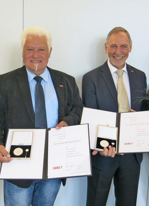 Die geehrten Unternehmer: Egon Reiner (l.) und Josef Vonach.wkv