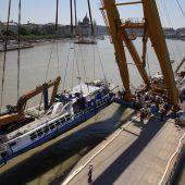 Schiffswrack wurde aus Donau geborgen