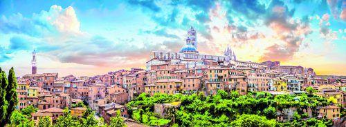 Die komplette Altstadt von Siena ist autofrei und gilt als Weltkulturerbe.