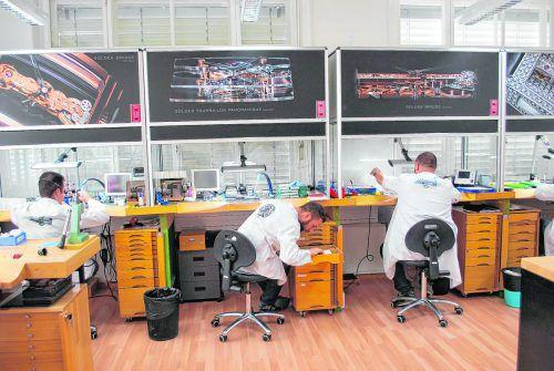 Die Manufacture de Haute Horlogerie Corum kann jeweils am Dienstag besichtigt werden.