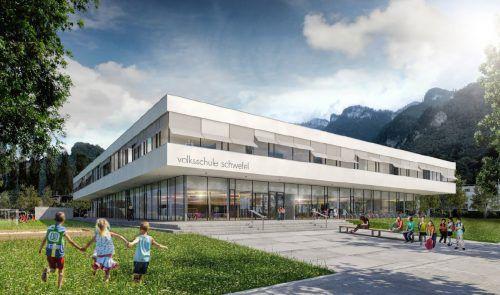 Die neue Volksschule Schwefel schlug mit 3,75 Millionen Euro zu Buche. 18 Millionen wird sie insgesamt kosten. Stadt